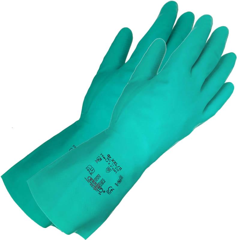 Paire de gants Nitrile spécial produits insecticides,chimiques et solvants - Taille L